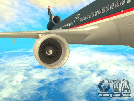 McDonnell Douglas MD-11 US Airways for GTA San Andreas right view
