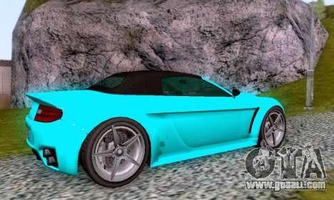 GTA V Rapid GT Cabrio for GTA San Andreas upper view