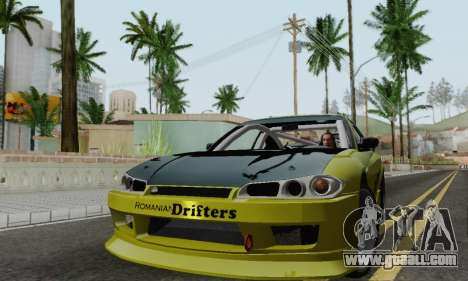 Nissan Silvia S15 Romanian Drifters for GTA San Andreas left view