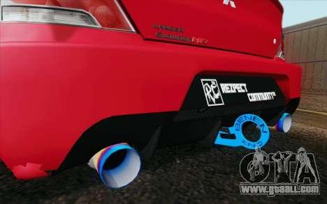 Mitsubishi Lancer MR Edition for GTA San Andreas back left view