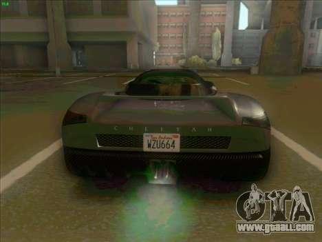 Cheetah Grotti GTA V for GTA San Andreas right view