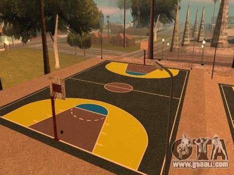 New basketball court for GTA San Andreas third screenshot