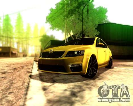 Skoda Octavia A7 RS for GTA San Andreas back left view