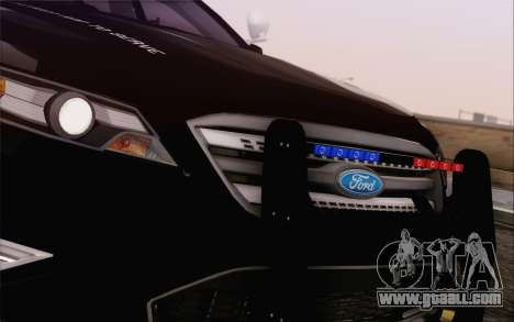 Ford Taurus Police for GTA San Andreas inner view