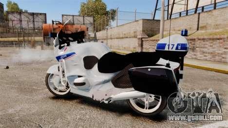BMW R1150RT Police nationale [ELS] v2.0 for GTA 4 left view
