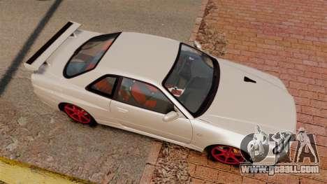 Nissan Skyline GT-R R34 V-Spec II for GTA 4 right view