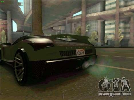 Cheetah Grotti GTA V for GTA San Andreas back left view