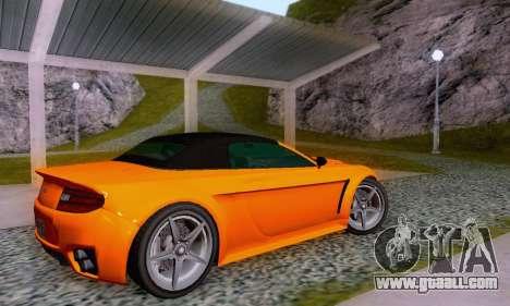 GTA V Rapid GT Cabrio for GTA San Andreas interior