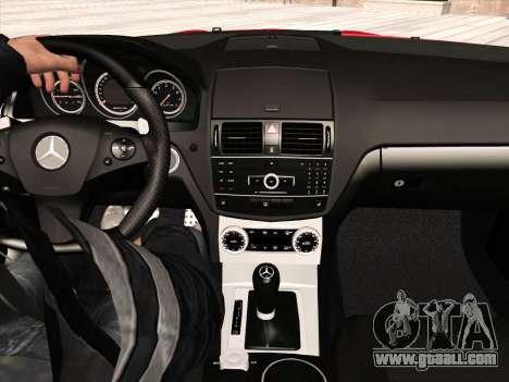 Mercedes-Benz C63 AMG HQLM for GTA San Andreas interior