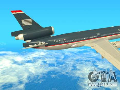 McDonnell Douglas MD-11 US Airways for GTA San Andreas back view