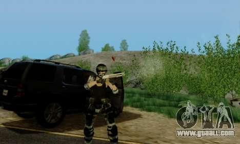 SWAT GIRL for GTA San Andreas fifth screenshot