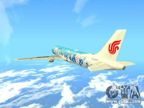 Airbus A320 Air China for GTA San Andreas side view