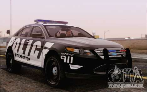 Ford Taurus Police for GTA San Andreas right view
