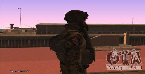 Global Defense Initiative Soldier for GTA San Andreas fifth screenshot