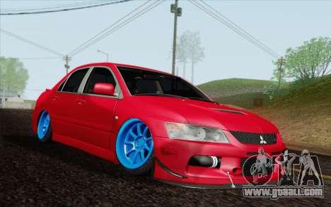 Mitsubishi Lancer MR Edition for GTA San Andreas