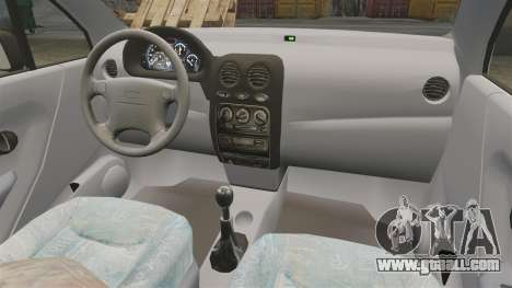 Daewoo Matiz SE 1998 for GTA 4 back view