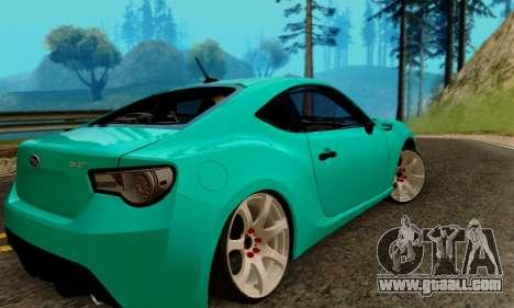 Subaru BRZ for GTA San Andreas left view