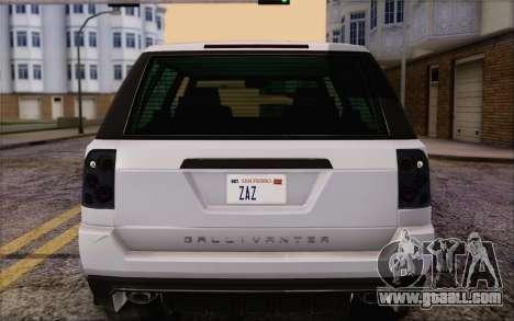 Tuned Gallivanter Baller из GTA V for GTA San Andreas upper view