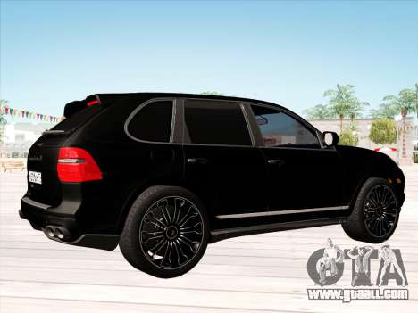 Porsche Cayenne Turbo S 2010 Stock for GTA San Andreas back view