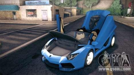 Lamborghini Aventador Roadster for GTA San Andreas side view