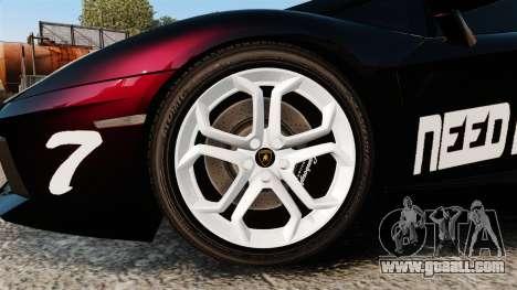 Lamborghini Aventador LP700-4 2012 [EPM] NFS for GTA 4 back view