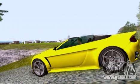 GTA V Rapid GT Cabrio for GTA San Andreas left view