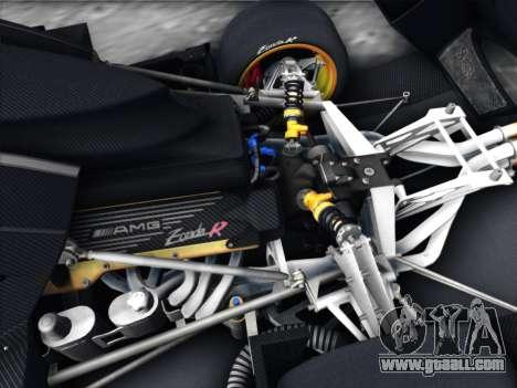 Pagani Zonda R 2009 for GTA San Andreas inner view