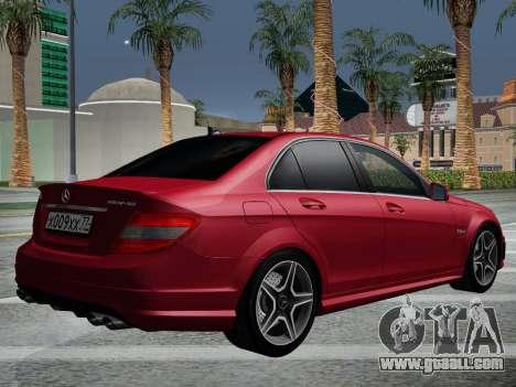 Mercedes-Benz C63 AMG HQLM for GTA San Andreas side view