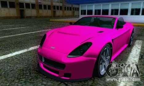 GTA V Rapid GT Cabrio for GTA San Andreas back left view