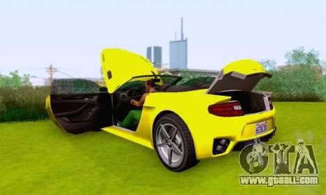 GTA V Rapid GT Cabrio for GTA San Andreas engine