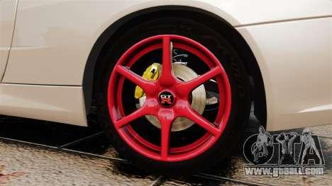 Nissan Skyline GT-R R34 V-Spec II for GTA 4 back view