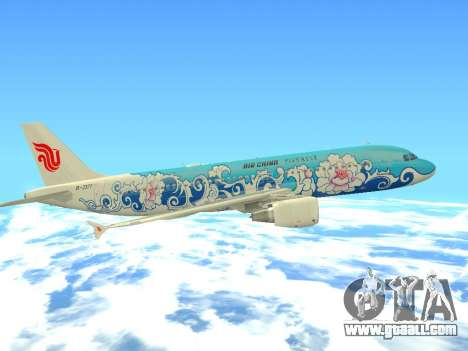 Airbus A320 Air China for GTA San Andreas bottom view