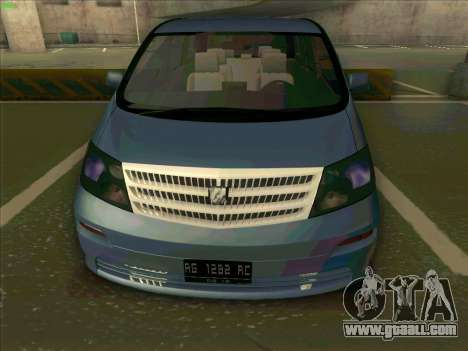 Toyota Alphard for GTA San Andreas right view