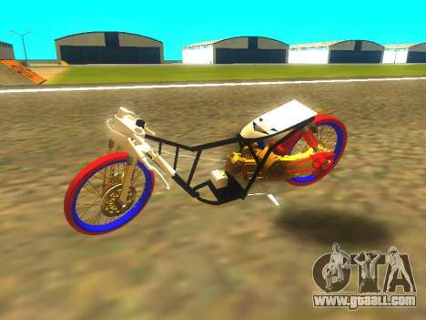 Drag Mio Full GOLD for GTA San Andreas back left view