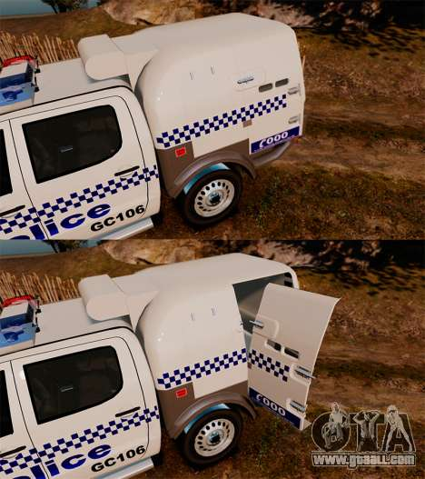 Toyota Hilux Police Western Australia for GTA 4 side view