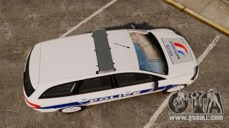 Ford Mondeo IV Wagon Police Nationale [ELS] for GTA 4 right view
