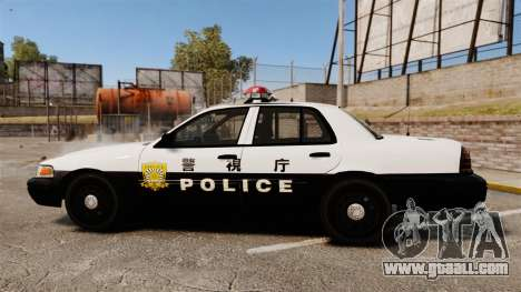 Ford Crown Victoria Japanese Police [ELS] for GTA 4 left view