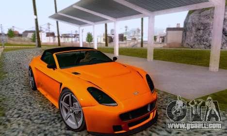 GTA V Rapid GT Cabrio for GTA San Andreas bottom view