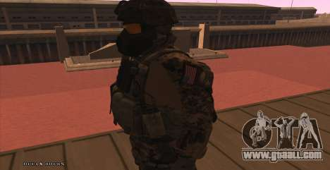 Global Defense Initiative Soldier for GTA San Andreas sixth screenshot