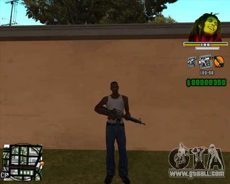 C-HUD Bob Marley for GTA San Andreas