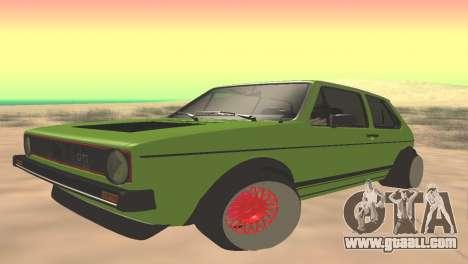 Volkswagen Golf Mk1 Low for GTA San Andreas
