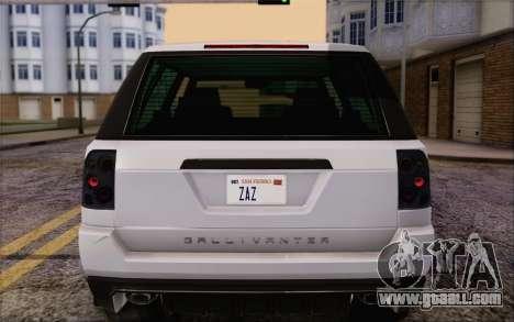Tuned Gallivanter Baller из GTA V for GTA San Andreas bottom view