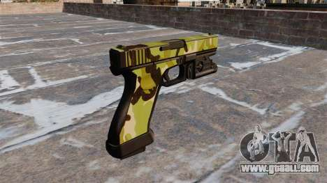 Pistol Glock 20 WoodLand for GTA 4 second screenshot