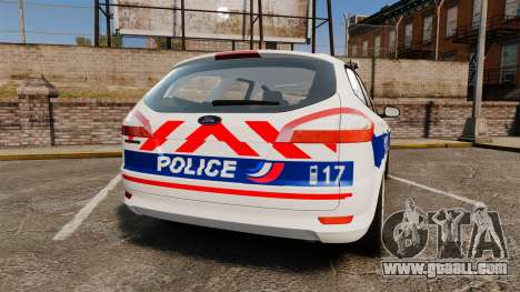 Ford Mondeo IV Wagon Police Nationale [ELS] for GTA 4 back left view