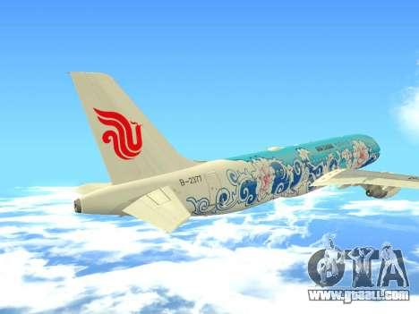Airbus A320 Air China for GTA San Andreas upper view