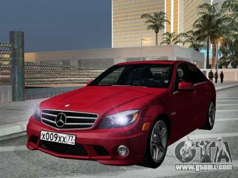 Mercedes-Benz C63 AMG HQLM for GTA San Andreas back view