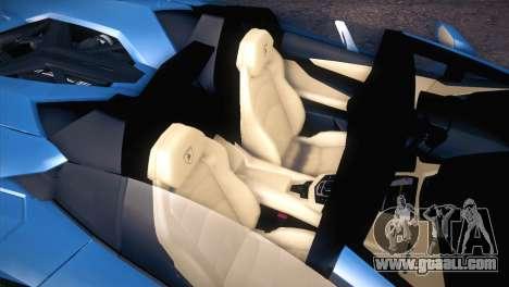 Lamborghini Aventador Roadster for GTA San Andreas inner view