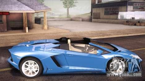 Lamborghini Aventador Roadster for GTA San Andreas left view