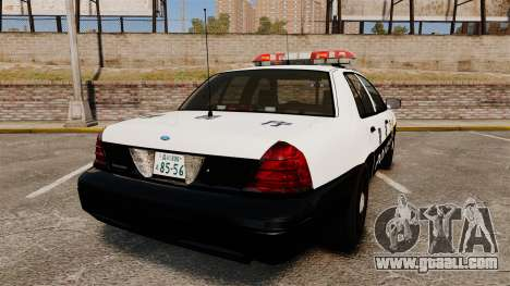 Ford Crown Victoria Japanese Police [ELS] for GTA 4 back left view