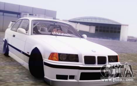 BMW M3 E36 Hellaflush for GTA San Andreas back view